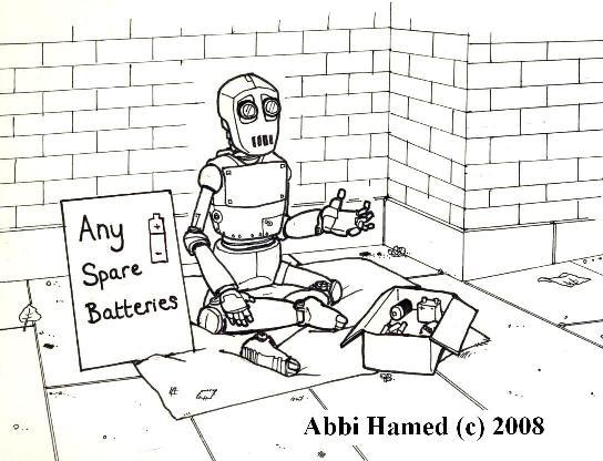 Electricity Beggar Robot